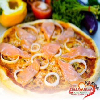 Salmone Affumicato Pizza | Little Italy TAPAU Kota Kinabalu | Hem of great Italian Pizza